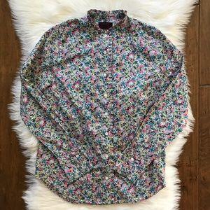 J.Crew Liberty Art Fabrics Cotton Ruffle Shirt